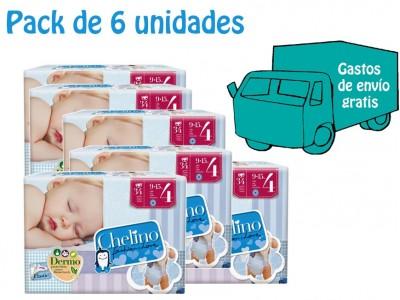 Pack 6 uds. Chelino Pañal Infantil T4 34 uds.