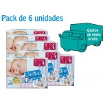 PACK 6 UNIDADES CHELINO PAÑAL INFANTIL T4 34 UDS