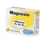 VALLESOL MAGNESIO + VIT B1 B2 Y B6 24 COMPRIMIDOS EFERVESCENTES