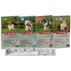 Advantix 4 Pipetas de 2,5ml Perros de 10-25kg