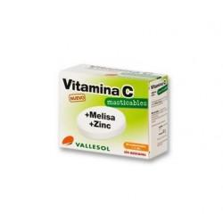 Vallesol Vitamina C + Melisa + Zinc 24 Comprimidos