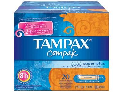 Tampax Compak Tampon Super Plus 20 uds.