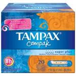 TAMPAX COMPAK TAMPON SUPER PLUS 20 UNIDADES