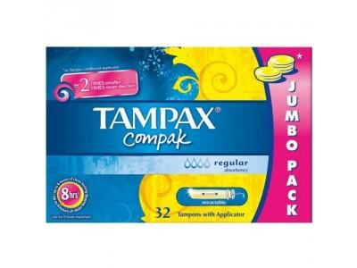 Tampax Compak Tampón Regular 32 uds.