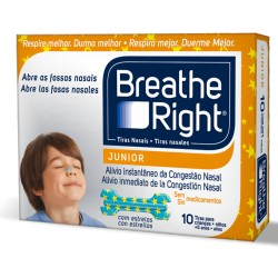 Tiras Nasal Breathe Right Junior 10 uds.