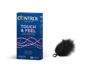 Control Preservativos Touch & Feel 12 uds. + Pluma