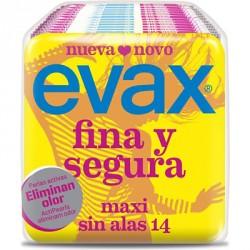 Evax Compresa Fina y Segura Maxi Sin Alas 14 uds.