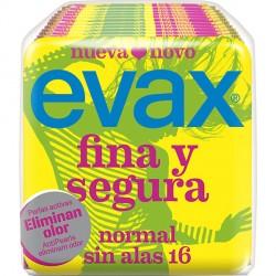 Evax Compresa Fina y Segura Normal Sin Alas 16uds.