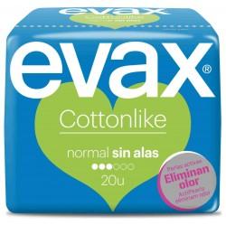 Evax Compresa Cottonlike Normal Sin Alas 20 uds.