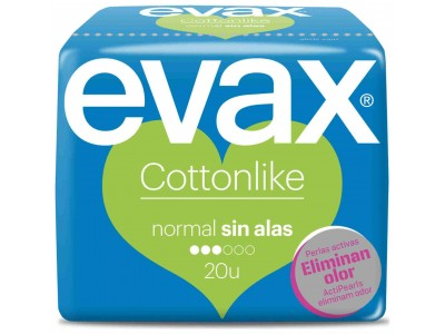 Evax Compresa Cottonlike Normal Sin Alas 20 uds.