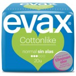 EVAX COMPRESA COTTONLIKE NORMAL SIN ALAS 20 UND