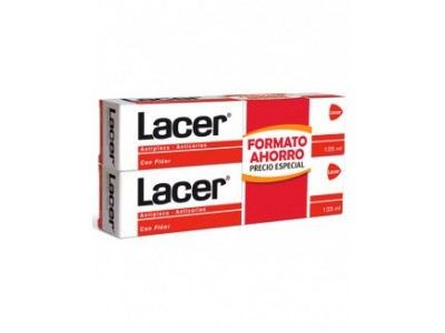 Lacer pasta dental 2 uds 125ml+125ml