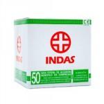 INDAS COMPRESA DE GASA ESTERIL 50 UNIDADES