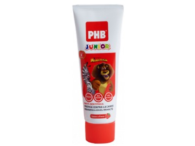 PHB Junior Pasta de Fresa 6-9 Años 75ml
