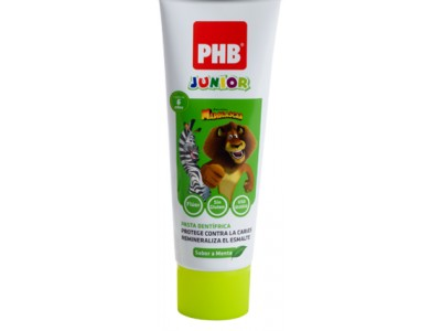 PHB Junior Pasta de Menta 6-9 Años 75ml
