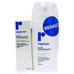 Repavar Oilfree Leche Limpiadora + Crema Hidratante