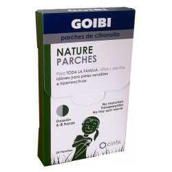 GOIBI NATURE PARCHES DE CITRONELLA ANTI-MOSQUITOS 24 UNIDADES