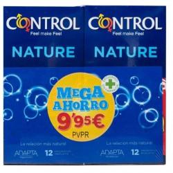 Control Preservativos Nature Mega Ahorro 12 + 12 uds.