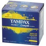 TAMPAX COMPAK TAMPON REGULAR 20