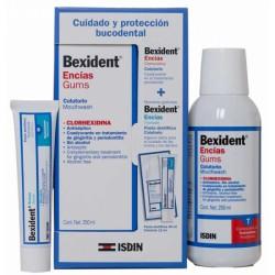 Bexident Encías Gums Colutorio 250ml + Colutorio 12ml + Pasta 25ml