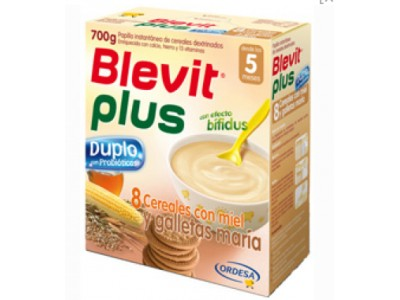 Blevit Plus Duplo 8 Cereales Miel + Galletas 600g