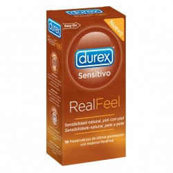 DUREX PRESERVATIVOS REAL FEEL  SIN LATEX 10 UNID.