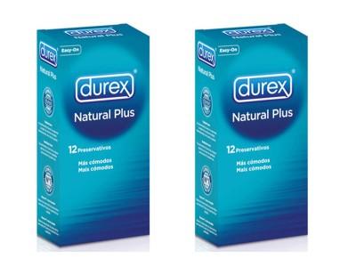Durex Duplo Preservativo Natural Plus 12 uds.