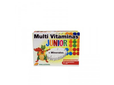 Vallesol Multivitaminas Junior + Minerales 24 Comprimidos Efervescentes