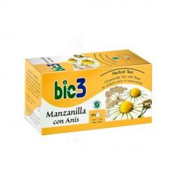 Bio 3 Manzanilla con Anis 25 Bolsitas para Infusión
