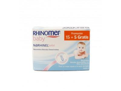 Narhinel Confort Aspirador Recambios Blandos 15 + 5 uds.