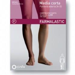 Farmalastic Media Corta Compresión Fuerte Puntera Abierta Talla Grande 1ud