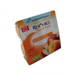 Resource Pure de Fruta Melocoton y Manzana 4x100g