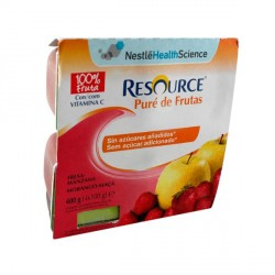 Resource Pure de Fruta Fresa y Manzana 4x100g