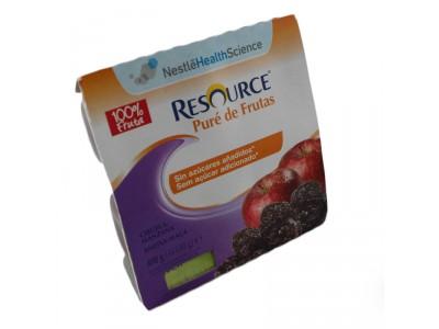 Resource Pure de Frutas Ciruela y Manzana 4x100g
