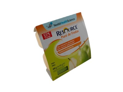 Resource Pure de Fruta Pera 4x100g