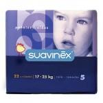 PAÑAL SUAVINEX  T.5 DE 17 A 25 KG.