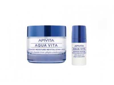 Apivita Aqua Vita Crema Facial 50ml + Regalo Contorno de Ojos 15ml P. Grasa