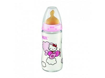 Biberón Nuk FC Hello Kitty +6m Látex 300ml Mod. B Rosa