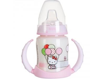 Biberón Asas Nuk Fc Hello Kitty Entrena 150ml Mod. B Rosa