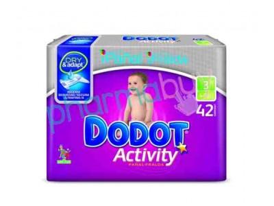 Pack Pañales Dodot Activity Talla 3 168 uds.