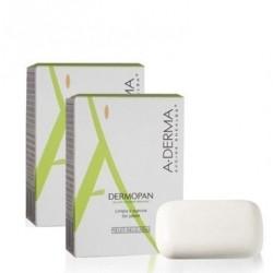 Aderma Pack Pastilla Dermopan Sin Jabon 100g 2 uds.