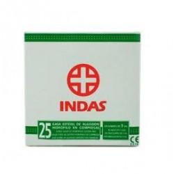 INDAS COMPRESA GASA ESTERIL 25 UNIDADES