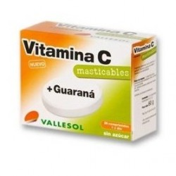 Vallesol Vitamina C + Guaraná 24 Comprimidos