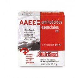 Nutrisport Aminoácidos Esenciales 1/2g 100 Cápsulas