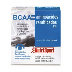 Nutrisport Aminoácidos Ramificados 1/2g 100 Cápsulas