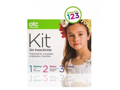 Otc Anti-Piojos Kit 123 Sin Insecticida Loción 125ml + Acondicionador 125ml + Spray 125ml