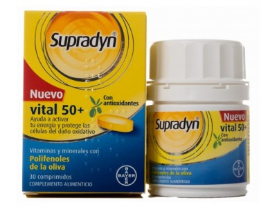 Supradyn Vital 50 + Antiox 30 Comprimidos