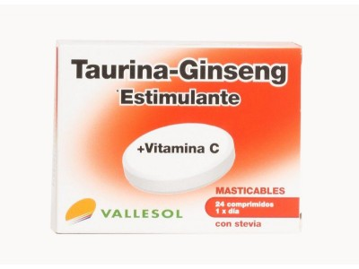 Vallesol Taurina-Ginseng 24 Comprimidos Efervescentes