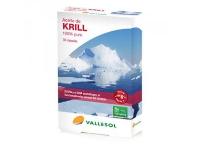 Vallesol Aceite de Krill 100% Puro 30 Cápsulas