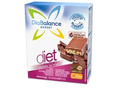 Diabalance Barritas de Chocolate con Leche 6 uds.